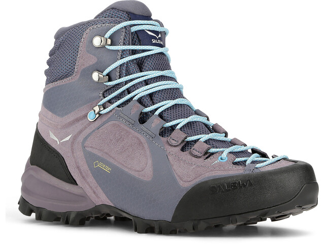 Salewa Alpenviolet GTX Mid Shoes Women Grisaille/Ethernal Blue
